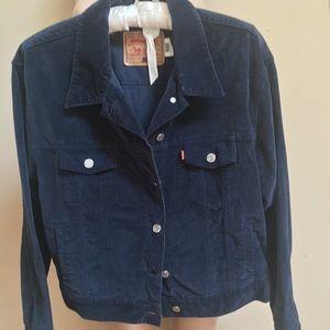 Levi's Rare Deep Blue Brushed Denim Jacket Sz L